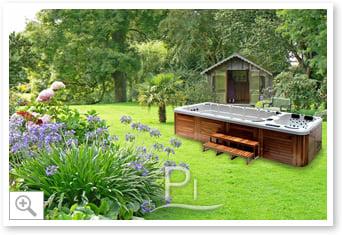 Vasca idromassaggio SPA River - Esterno giardino 1
