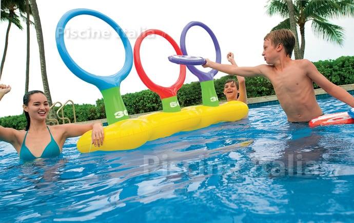 Set volley galleggiante piscine italia - Rete pallavolo piscina ...