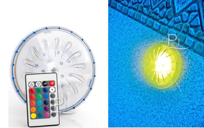 Piscineitalia faretto led multicolor con attacco magnetico - Luci per piscina ...