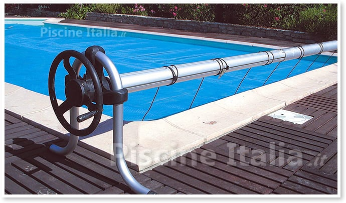 Arrotolatore per copertura estiva alfa piscine italia - Motore per piscina ...