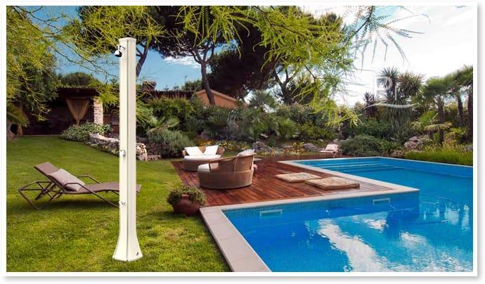 Piscineitalia doccia solare big happy antracite - Doccia solare per piscina ...