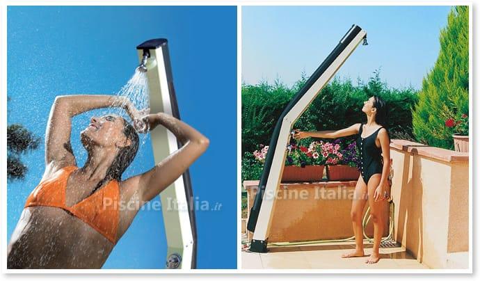 Doccia solare giordano curvata piscine italia - Doccia solare per piscina ...