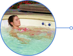 Minipiscina vasca idromassaggio SPA Blue Vision - Idromassaggio
