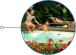 Minipiscina vasca idromassaggio SPA Blue Vision - Tuffi