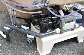Minipiscina vasca idromassaggio SPA Blue Vision - Installazione impianto 1