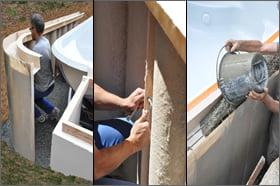 Minipiscina vasca idromassaggio SPA Blue Vision - Installazione montaggio 1