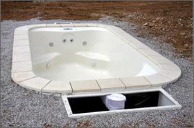 Minipiscina vasca idromassaggio SPA Blue Vision - Installazione bordi 1