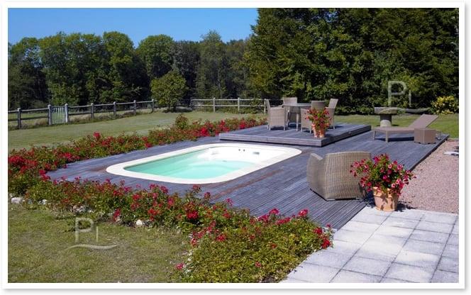 Minipiscina vasca idromassaggio SPA Blue Vision - Installazione completata