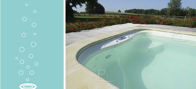 Minipiscina vasca idromassaggio SPA Blue Vision - Cover 1