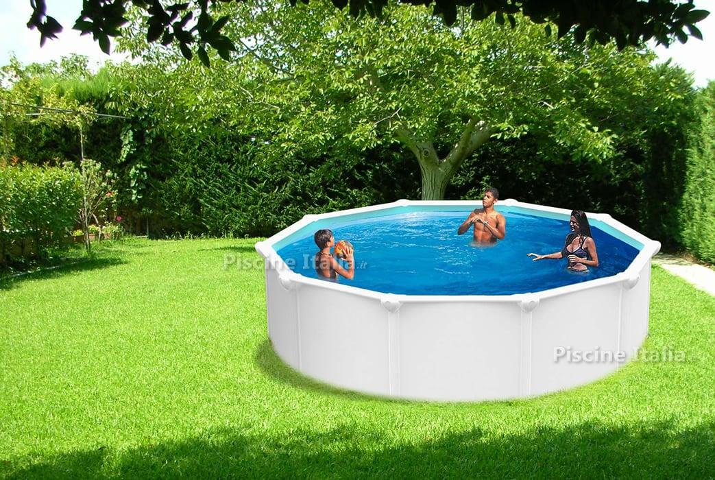Piscineitalia piscina fuori terra in acciaio rond for Piscina acciaio