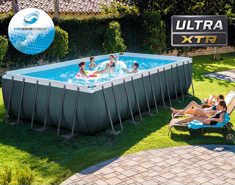 Piscine Da Esterno Rivestite In Legno piscina fuori terra intex ultra xtr frame rettangolare 26364