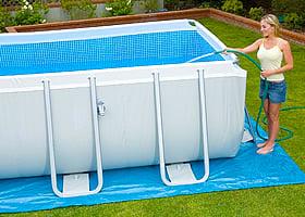 Piscina fuori terra in tubolari intex ultraframe 975 completa con filtro a sabbia piscine italia - Riparazione telo piscina ...