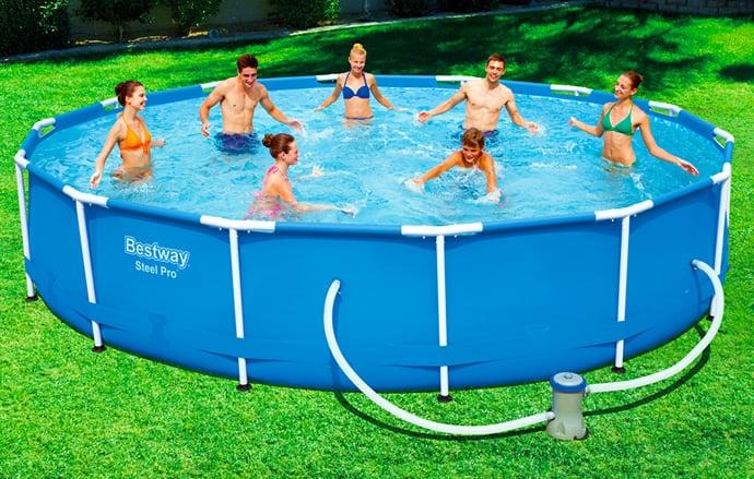 Piscineitalia piscina fuoriterra bestway steel pro 427 for Piscine bestway steel pro