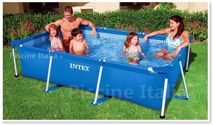 Piscina fuori terra in tubolari intex frame 2 60x1 60 piscine italia - Piscine intex fuori terra ...