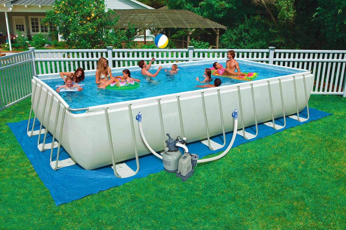 Promo piscine intex for Piscine tubulaire rectangulaire intex pas cher