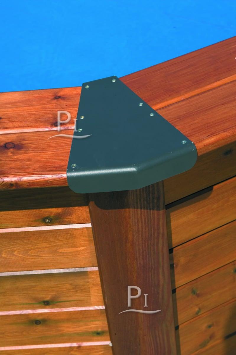piscina fuori terra gre in acciaio e legno ovale hawaii 750 piscine italia. Black Bedroom Furniture Sets. Home Design Ideas