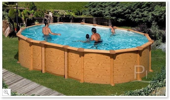 Piscina fuori terra gre in acciaio ovale amazonia 610 piscine italia - Piscine in acciaio fuori terra ...