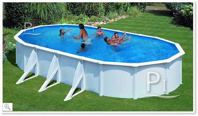 Piscina fuori terra gre in acciaio ovale atlantis 915 piscine italia - Piscine in acciaio fuori terra ...