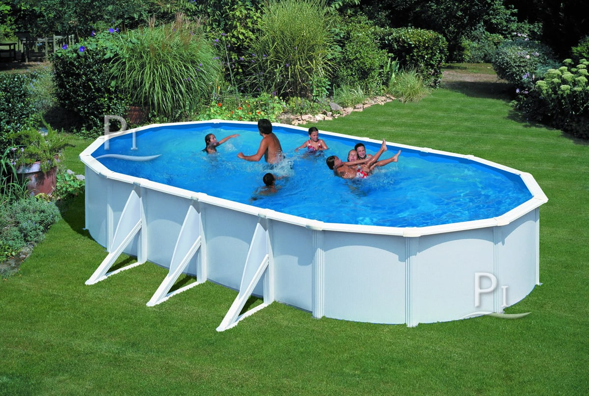 Piscineitalia piscina fuoriterra in acciaio gre ovale - Piscine fuori terra gre ...