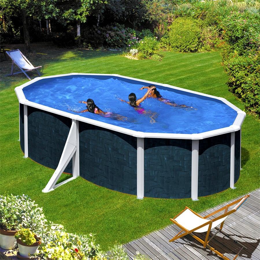 Piscina fuori terra gre in acciaio ovale barbados 500 piscine italia - Piscine in acciaio fuori terra ...