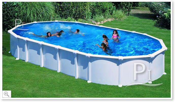 Piscineitalia piscina fuori terra in acciaio haiti 610 for Piscina acciaio