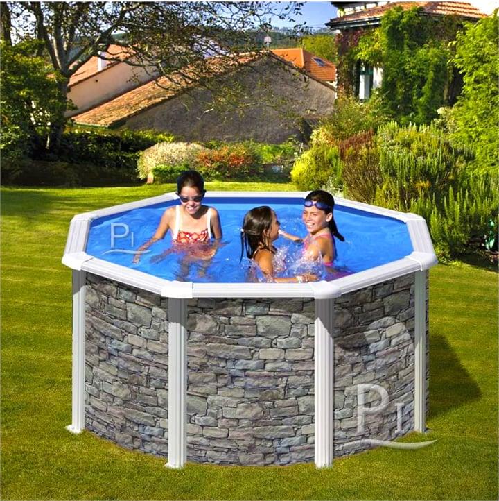 Piscineitalia piscina fuori terra in acciaio iraklion 240 for Piscine rectangulaire 2x3