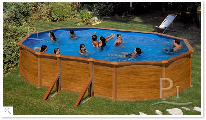 Piscineitalia piscina fuori terra in acciaio madeiras 500 for Piscine 2x3