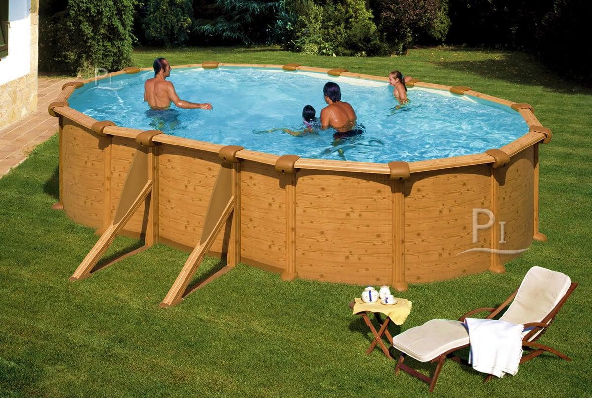 Piscineitalia piscina fuori terra in acciaio mauritius 610 - Piscina acciaio ...