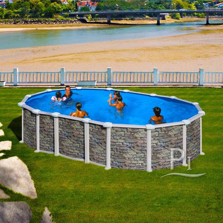 Piscineitalia piscina fuori terra in acciaio mykonos 610 for Piscina acciaio