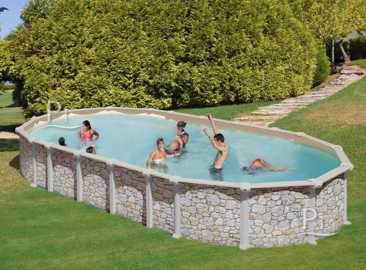 Piscineitalia piscina fuori terra in acciaio mykonos 730 - Piscine in acciaio fuori terra ...