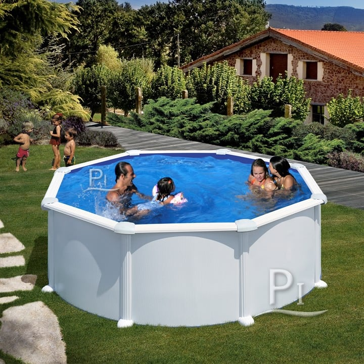 Piscineitalia piscina fuori terra in acciaio atlantis 350 for Piscina rotonda