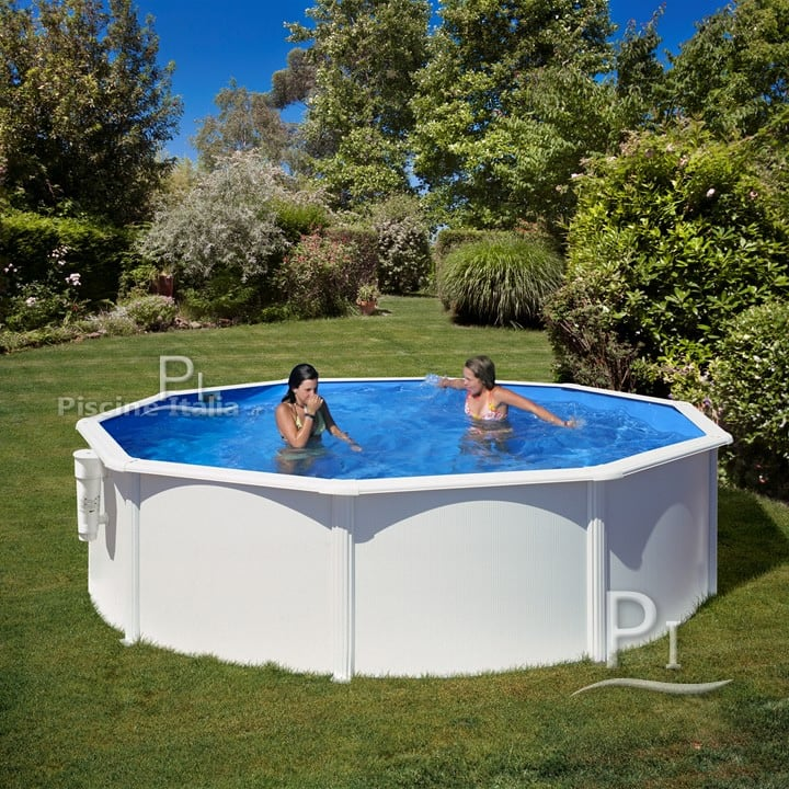 Piscina fuori terra gre in acciaio rotonda dream pool 460 - Piscine in acciaio fuori terra ...
