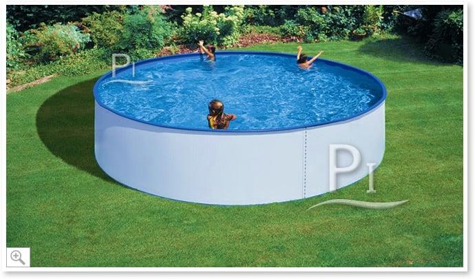 Piscina fuori terra gre in acciaio rotonda tenerife 350 piscine italia