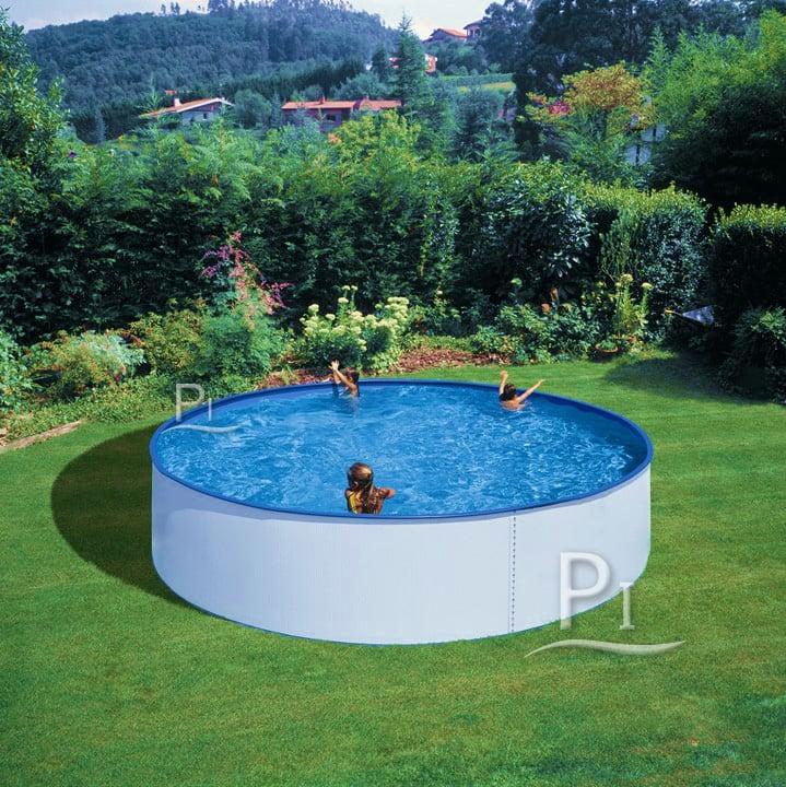 Piscineitalia piscina fuori terra in acciaio tenerife 350 - Piscine in acciaio fuori terra ...
