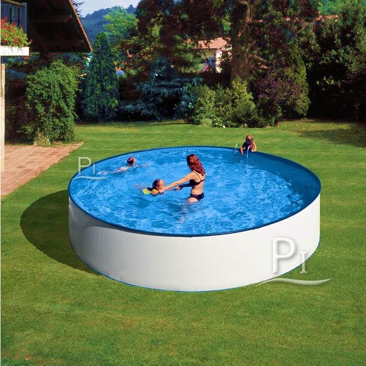 Piscineitalia piscina fuoriterra gre in acciaio rotonda for Piscina rotonda