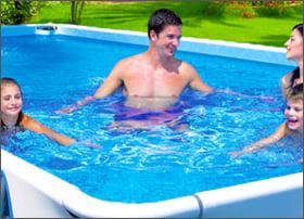 Piscina fuoriterra tubolari laguna basic 100 piscine italia for Piscina fuori terra 3x2