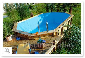 piscina fuori terra in legno jardin 560