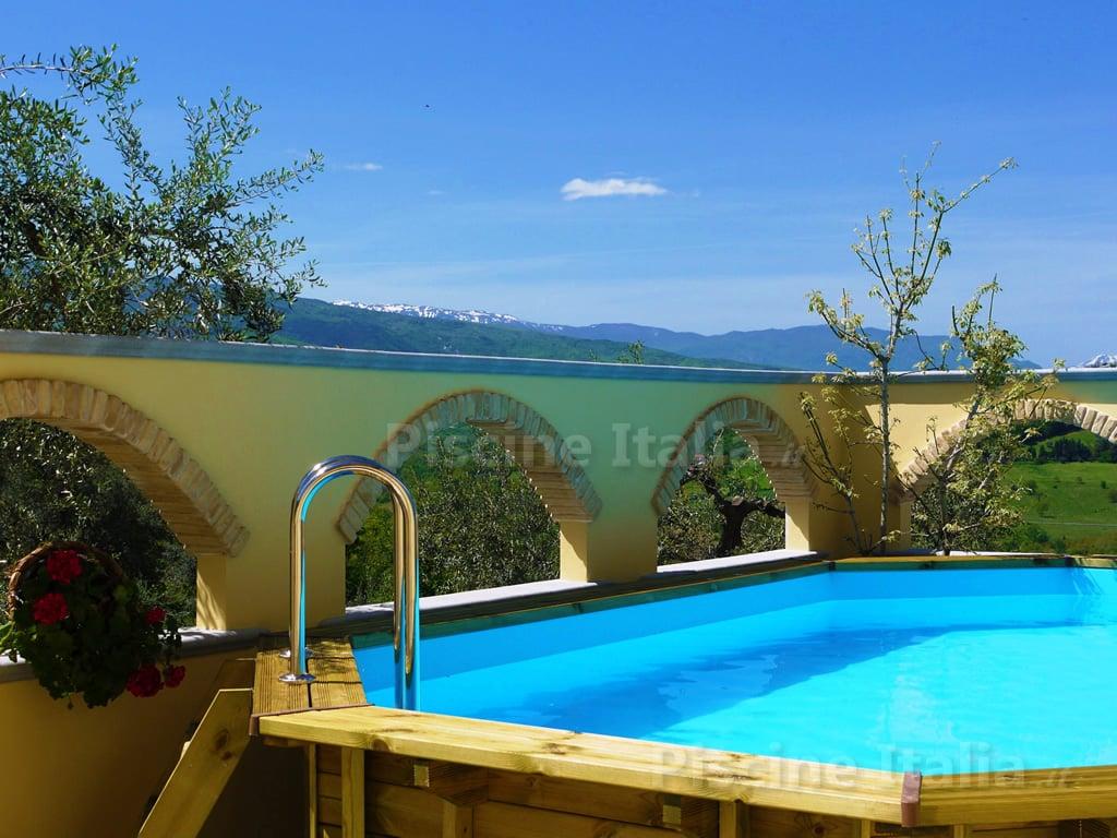 piscina fuori terra in legno jardin 607