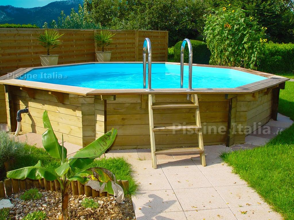 Piscineitalia piscina fuori terra in legno tropic 414 for Piscine tropic octo 414