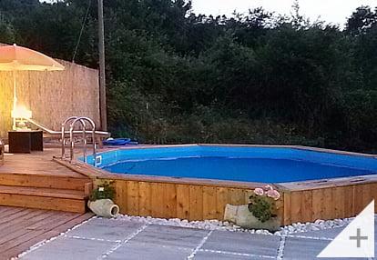 Foto dei clienti - Piscina in legno da giardino Ocean 580 Liner sabbia - Foto 3
