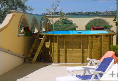 Foto dei clienti - Piscina in legno da giardino Jardin 727 - Foto 2
