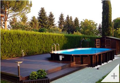 Foto dei clienti - Piscina in legno da giardino Jardin 727 - Foto 3