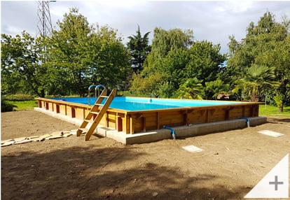 Foto dei clienti - Piscina in legno da giardino Jardin CARRE 12x6 m - Foto 1