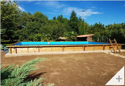 Foto dei clienti - Piscina in legno da giardino Jardin CARRE 12x6 m - Foto 2