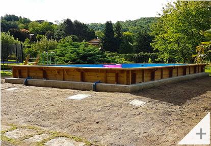 Foto dei clienti - Piscina in legno da giardino Jardin CARRE 12x6 m - Foto 3