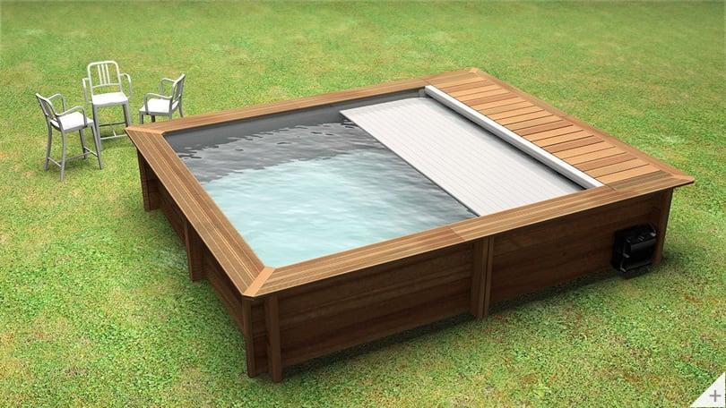 Piscina in legno fuori terra Urban 420x350cm cover