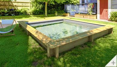 piscina in legno fuori terra Urban 420x350cm - Senza copertura