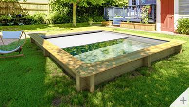 piscina in legno fuori terra Urban 420x350cm - _Con copertura