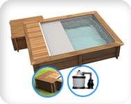 Piscina in legno URBAN 420x350 Kit EASY
