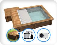 Piscina in legno URBAN 420x350 Kit PLUS